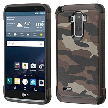Insten Camouflage Hard Dual Layer Rubberized Silicone Case for LG G Stylo, Gray/Black