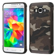 Insten Camouflage Hard Hybrid Rubber Coated Silicone Case for Samsung Galaxy Grand Prime, Gray/Black