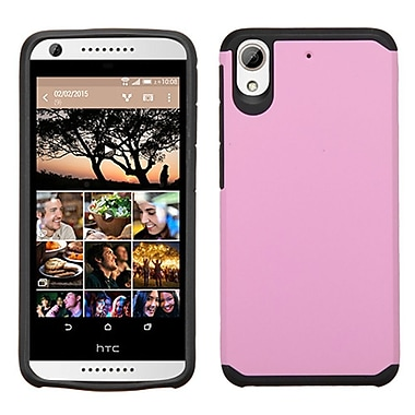 Insten Hard Hybrid Rubberized Silicone Case For HTC Desire 626/626s, Pink/Black (2139445)
