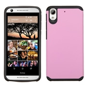 Insten Hard Hybrid Rubberized Silicone Case for HTC Desire 626/626s, Pink/Black