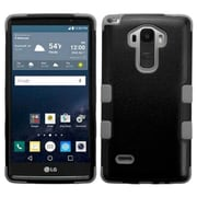 Insten Tuff Hard Dual Layer Rubber Coated Silicone Case for LG G Stylo, Black/Gray