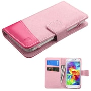 Insten Folio Leather Case for iPhone 5/5C/5S HTC Windows Phone 8X One S LG Optimus F3/F5/F6/L9 Samsung Galaxy S2, Pink