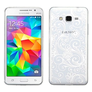 Insten Four-Leaf Clover TPU Case For Samsung Galaxy Grand Prime, White (2162997)