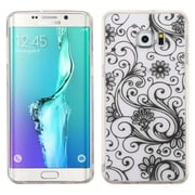 Insten Four-leaf Clover Gel Case for Samsung Galaxy S6 Edge Plus, Black