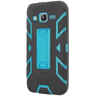 Insten Rubber Hybrid Hard Cover Case With Stand For Samsung Galaxy Grand Prime, Black/Blue (2172713)
