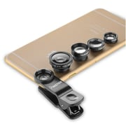 Insten Black 4 in 1 Fisheye/Wide Angle/Macro/Telephoto Lens Phone Camera Kit for iPhone 6/6S Plus 5/5S
