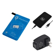 Insten Black Qi Wireless Charger Charging Pad Kit + Receiver + AC Wall Charger for Samsung Galaxy S5 SV