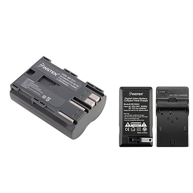 Insten BP-511 Battery and Car and AC Wall Home Charger for Canon EOS, 2/Pack(261435)