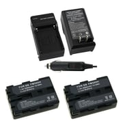 Insten 2-Pack Battery + Charger for Sony NP-FM500H Alpha DSLR-A350 A200 A300 A100 A900 SLT-A57