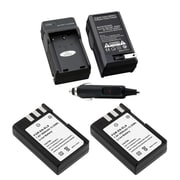 Insten® Battery and Charger for Nikon EN-EL9 D40 D60 D5000 D3000, 2/Pack(275562)