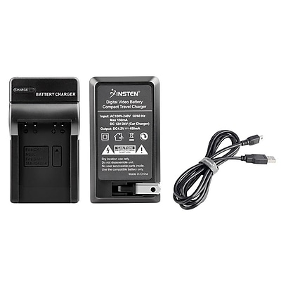 Insten Battery Charger + USB Cable for Canon S90 SD1200 SD770 SD980