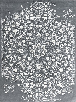 AMER Rugs Artist Hand-Tufted Gray/White Area Rug; Rectangle 8' x 11'