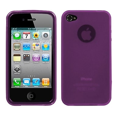 Insten Semi Transparent Candy Skin Case Cover Rubberized For Apple iPhone 4 4S, Purple (1018028)
