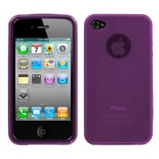 Insten Semi Transparent Candy Skin Case Cover Rubberized for Apple iPhone 4 4S, Purple