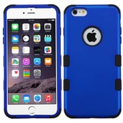 "Insten Tuff Hard Hybrid Rubber Coated Silicone Cover Case for Apple iPhone 6 Plus 5.5"", Blue/Black"