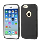 Insten Hard Rubber Coated Silicone Cover Case for Apple iPhone 6, Black