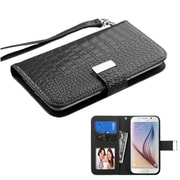 Insten Leather Case for iPhone 6 HTC One M7/M8/X/XL LG G2/Nexus 4 5/Optimus F7 L90 Moto X Galaxy S3/S4/S5/S6, Black