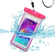 "Insten Universal Lightning Waterproof Pouch Dry Bag Case with Lanyard (6.3"" x 3"" ) for iPod Touch 6th iPhone 6 6S 5 5S, Hot Pink"