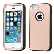 Insten Dual Layer Hybrid Shockproof Hard PC/Silicone Case for iPhone 5S/5, Rose Gold/Black