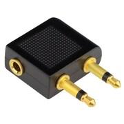Insten Airplane Airline Travel Headphones Jack Audio 3.5mm Adapter Converter