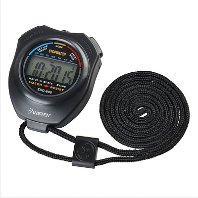 Insten Electronic LCD Timer Digital Sport Stopwatch Date Time Alarm Clock Counter Chronograph with Neck Strap