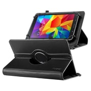 "Insten 360 Degree Rotating Swivel PU Leather Flip Case Stand for Samsung Galaxy Tab 3 7""/4 7"" Tablet 7"", Black"