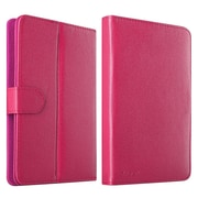"""Insten Leather Universal Stand Folio Protector Case Cover for 7"""" Tablets, Hot Pink"""