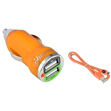 Insten USB Car Charger Adapter And Micro Cable Cord For Samsung Galaxy LG Nexus 5 HTC One M7 M8 M9 (1594112)
