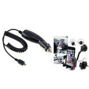 Insten In Car DC Charger + Windshield Holder Mount for Samsung GALAXY Note 3 III N9000 Note 4 N9100