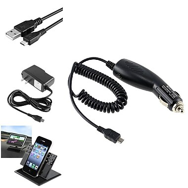 Insten® Travel Charger and Car Holder and Cable for Samsung Galaxy Note 2 N7100 Note 4 3 N9100 N9000, 2/Pack(383635)