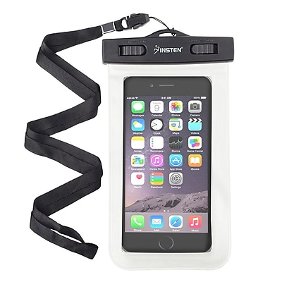 Insten White Waterproof Bag PVC Carrying Case Pouch (6.5 x 3.9 inches) for iPhone Samsung LG HTC Lenovo, up to 3 meters