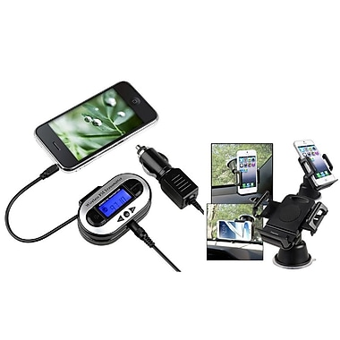 Insten® FM Transmitter Car Adapter for Galaxy S5 S4 S3 Note 2 3 iPhone 6 5 5S 5C 4 4S LED(2054731)