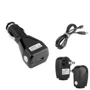 Insten Mini-USB (Mini 5-Pin) Charger Set 3 in 1 (Car + Wall + Cable) for Cell Phone Smartphone / GPS