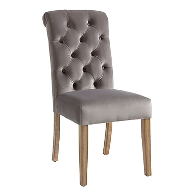 !nspire Dining Chairs, Grey Velvet, 2/Pack