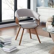 !nspire – Chaise d'appoint en bois courbé et lin, gris