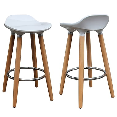 !nspire Low Back Counter Stool, 2/Pack