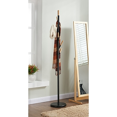 Metal/Wood Coat Rack