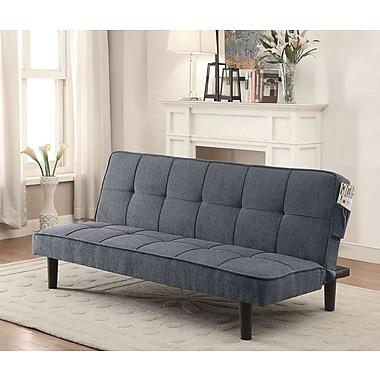 Fabric Convertible Sofabed, Grey, 71