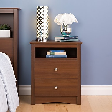 Prepac Riverdale Tall Night Stand, Warm Cherry, (LDC-2428-V)