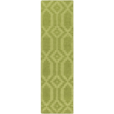 Artistic Weavers Metro Scout Hand-Loomed Green Area Rug; Runner 2'3'' x 12'