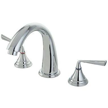 Kingston Brass Silver Sage Double Handle Roman Tub Faucet; Polished Chrome