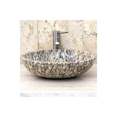 Allstone Group Stone Oval Vessel Bathroom Sink; San Cecilia Granite
