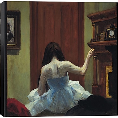 iCanvas ''New York Interior'' by Edward Hopper Painting Print on Canvas; 12'' H x 12'' W x 1.5'' D