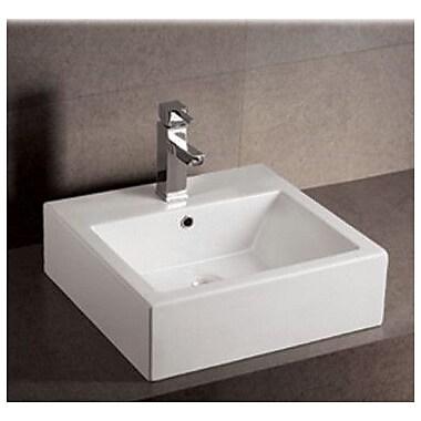 Whitehaus Collection Isabella Rectangular Vessel Bathroom Sink w/ Overflow