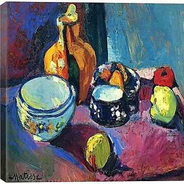 iCanvas ''Dishes and Fruit (1901)'' Canvas Wall Art by Henri Matisse; 18'' H x 18'' W x 1.5'' D