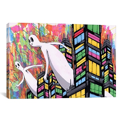 iCanvas Just Passing Through Canvas Print Wall Art; 40'' H x 60'' W x 1.5'' D