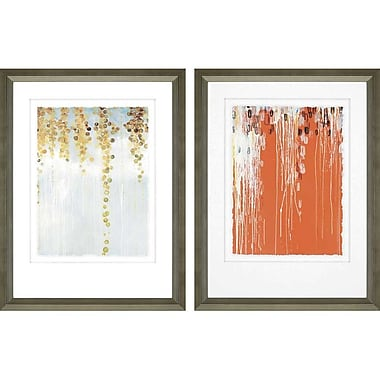 Paragon Gold Swirls and Belt by Kowalski Framed 2 Piece Painting Print Set (Set of 2)