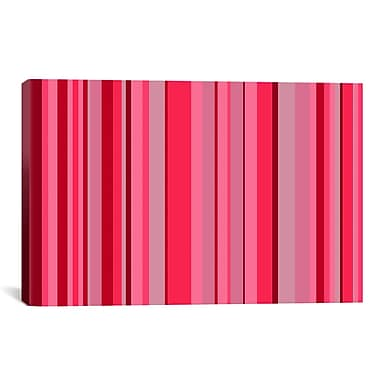 iCanvas Candy Striped Graphic Art on Canvas; 18'' H x 26'' W x 0.75'' D