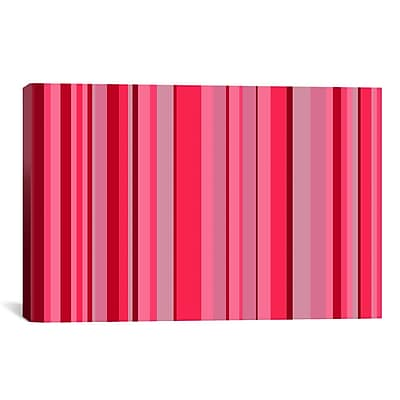 iCanvas Candy Striped Graphic Art on Canvas; 26'' H x 40'' W x 0.75'' D