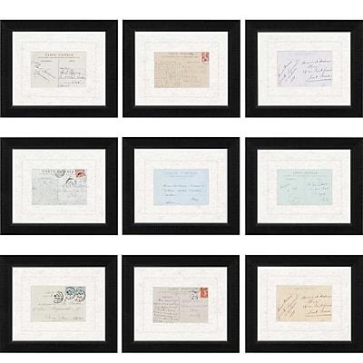 Paragon Paris Postcards by 9 Anonymous Piece Framed Graphic Art Set